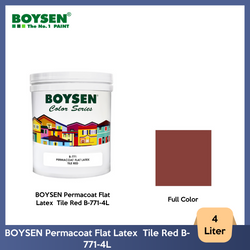 BOYSEN Permacoat Flat Latex  Tile Red B-771-4L
