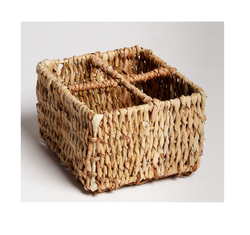Handmade Woven Tabletop Four Compartment Condiment Caddy