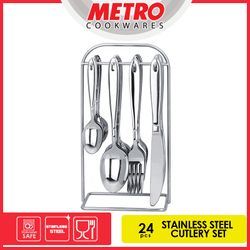 Metro	MFJ 4742	24pcs Stainless Steel Cutlery Set with Holder