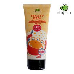 Little Tree Fruity Fresh Toothpaste 12+months Monster Series Orange 70ml