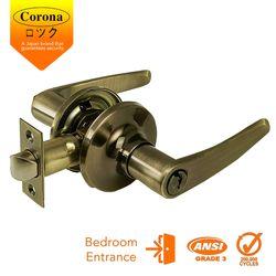 Corona Entrance Keyed Lever Lock (Antique Brass)