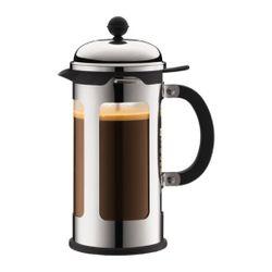 Bodum CHAMBORD FRENCH PRESS COFFEE MAKER,8cup,1.0L,34oz S/S,CHROME-SHINY