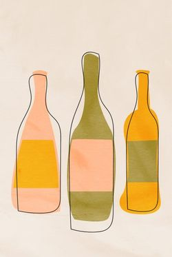 """A BOTTLE OF 3 POSTER 11x15"""""""