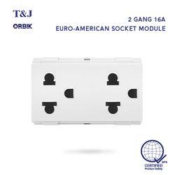 T&J ORBIK W8416V2 Duplex Universal Outlet