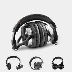 OneOdio Pro10 Black Wired Professional DJ Studio Headphones