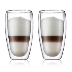Bodum PAVINA DOUBLE WALL GLASS (2pcs) LARGE,0.45L,15oz