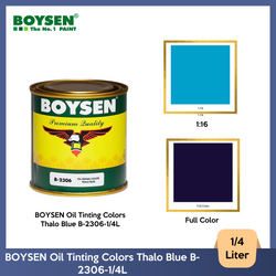 BOYSEN Oil Tinting Colors Thalo Blue B-2306-1/4L