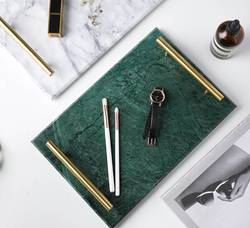 Kendall Emerald Green Marble Tray