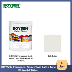 BOYSEN Permacoat Semi-Gloss Latex Tulle White B-7501-4L