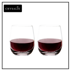 Crysalis Stemless Collection Double Rock Glass 2pc Set Crystal Clear 360 mL13 oz