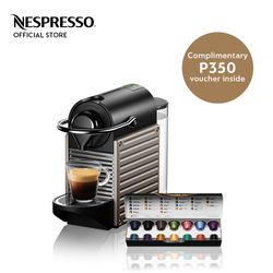 Nespresso® Pixie Titan with Complimentary Welcome Coffee Set