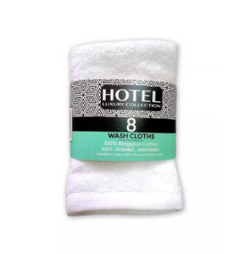 Hotel Luxury Collection Wash Cloth 8pc