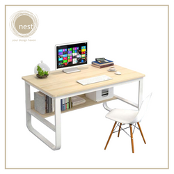 Nest Design Lab Premium  Heavy duty Durable Working Desk 100 x 60 x 73 cm Maple Amazing Gift Idea For Any Occasion!