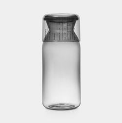 Brabantia Storage Jar W/ Measuring Cup 1.3L Dark-Grey