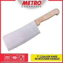 METRO   MKK 515   7in CLEAVER KNIFE-WOODEN HNDLE