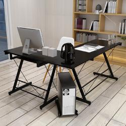 Primetime Minimalist L-Shape Computer Table