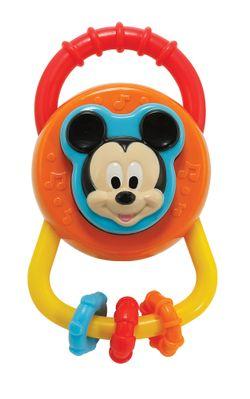 Disney Baby Mickey Asqueezer Rattle (Orange)