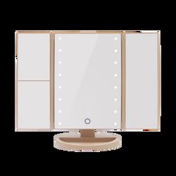Cascade Tri Fold Led Make Up Mirror-White