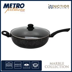 Metro Primera MPCW 1754 30cm Marble Coated Wok with Glass Lid