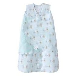 Tickled Babies Halo Sleepsack Swaddle Bunnies Baby Blue - Newborn