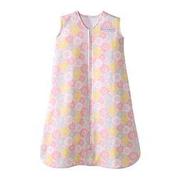 Tickled Babies Halo Sleepsack Wearable Gray Blanket Pink Flowers - Small