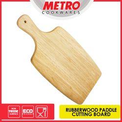 MetroMCB 4598   Rubberwood Paddle Cutting  Board