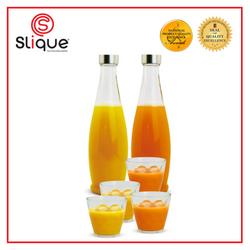 Slique Glass Pitcher & Bottle Set