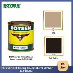 BOYSEN Oil Tinting Colors Burnt Umber B-2311-1/4L