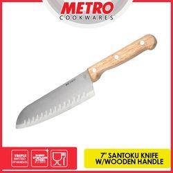 "METRO  MKK 5687  7"" SANTOKU  WOODEN HANDLE KNIFE"