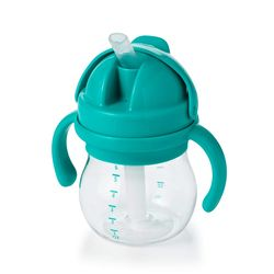 Tickled Babies Oxo Tot Grow Straw Cup With Handles 6 Oz - Teal