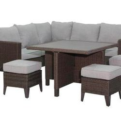 Member's Selection Wicker Sectional 7pc