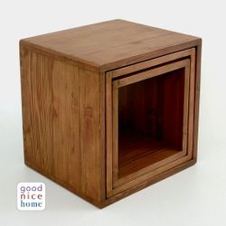 Good Nice Home Solid Wood 3-Kings Nesting Side Tables (Pre-Order)