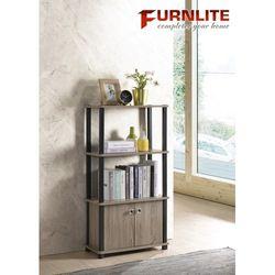 2 Shelf Bookcase with 2 Doors