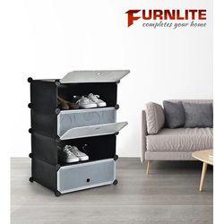Furnlite 4 Cube Shoe Cabinet