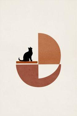 """CAT ART NO.2 POSTER  11x15"""""""
