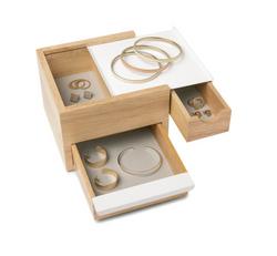 Umbra Mini Stowit Jewelry Box Natural/White