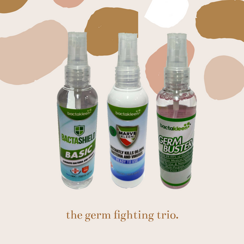 Bactakleen Germ Fighting Trio 100ml