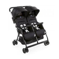 Chicco JVI Ohlala Twin Stroller, Black Night