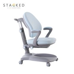 STACKED  Swift Ergonomic Study Chair (Blue)