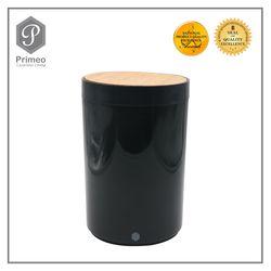 Primeo Bathroom Accessories Bamboo Black Series Waste Bin
