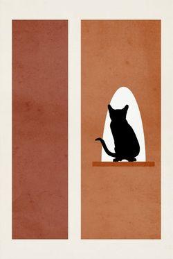 """CAT ART NO.1 POSTER 8x11"""""""