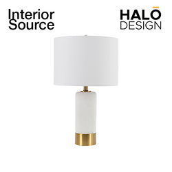 Tafel Concrete Table Lamp with Metal Base