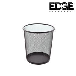 Edge Houseware 26 x 24CM Metal Wire Mesh Waste Basket Garbage Trash Can for Office Home Bedroom Round Mesh Wastebasket Recycling Bin
