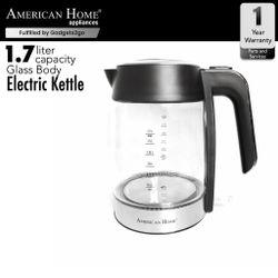 American Home AK-M1719GB Glass Kettle 1.7L Glass