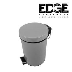 Edge Houseware  25X17CM Dust Bin Waste Bin Stainless Steel Paddle Bin 3lites Pedal Stainless Steel Trash Bin Waste Bin Garbage Can