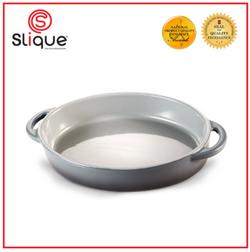 SLIQUE Premium Oval Marble Glass Baking Dish 900ml