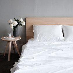 Bamboo Bed Sheets - Milk Full