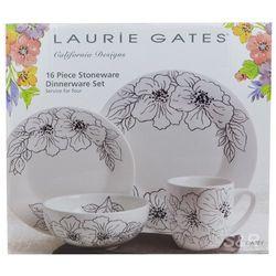 Laurie Gates California Designs Stoneware Dinnerware Set 16pcs