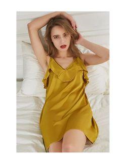 Intissimo Rafaela (Gold)  Silk Slip Dress