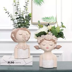 Happy Home PH Cute Girl Planter Vase